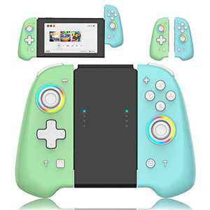 Wireless Switch Controller for Nintendo Switch, Joypad Controller Replacement for Nintendo Animal Crossing Joycon, Support Motion Vibration Turbo Speed Function and Gyro Axis