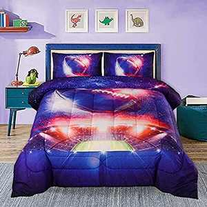 YEARNING American Football Comforter Set Twin, Rugby Field Printed, Football Bedding Set for Boys