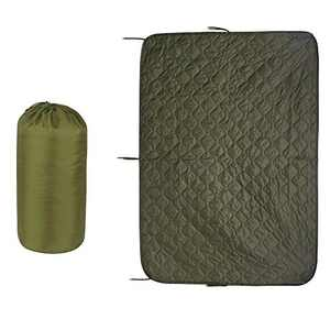 Greencity Tactical Military Woobie Blanket Poncho Liner Camping Thermal Insulated Drawstring Carry Bag Waterproof Outdoor Activities Hiking Traving,OD Green