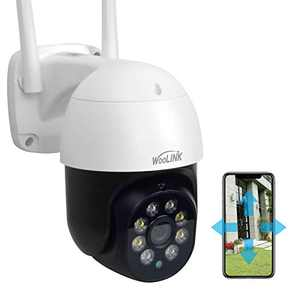 Woolink Home & Outdoor Security Camera System Wireless WiFi IP Waterproof, 2K Floodlight Night Vision, Intelligent Motion Detection, Two-Way Audio, Plug-in Power, 3MP, PTZ, IP66 SC393