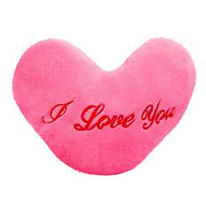 Valentine's Day Pillow,Colorful Heart Luminous Glowing Pillow Soft Plush Children Cute Toy (Pink)