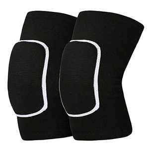Mclako Knee Pads Knee Guards, Soft Breathable Knee Pads for Men Women Kids Knees Protective, Knee Braces for Volleyball Football Dance Yoga Tennis Running cycling Black(M)