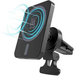 Magnetic Wireless Car Charger for iPhone 12/12 Pro/12 Pro Max/12 Mini, [Magnetic Attachment] 15W Fast Charge Car Charger, Car Vent Mount Phone Stand, Black