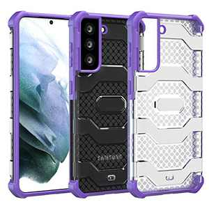 Restoo Samsung Galaxy S21 Case,Anti-Slip Hard Armor Shockproof Cover with Rugged Heavy Duty Protection for Samsung Galaxy S21 5G 2021,Purple