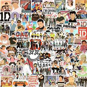 One Direction Stickers Pack 100PCS, Vinyl Stickers for Hydro Flask Laptop Water Bottles Skateboard, Waterproof Sticker for Teens, Adults, Boys, Girls