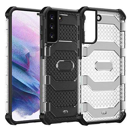 Restoo Samsung Galaxy S21 Plus Case,Anti-Slip Hard Armor ShockproofCover with Rugged Heavy Duty Protection for Samsung Galaxy S21 Plus 5G 2021,Black