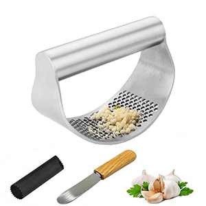 INMTIE Kitchen Garlic Press Garlic Press Rocker Stainless Steel Mincer & Crusher Easy Clean Professional Grade