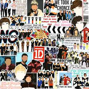 One Direction Stickers Pack 50PCS, Vinyl Stickers for Hydro Flask Laptop Water Bottles Skateboard, Waterproof Sticker for Teens, Adults, Boys, Girls