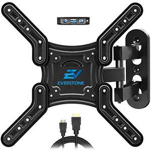 """Everstone TV Wall Mount Bracket Fits Most 28""""-60"""" TVs Tilting Swivel Extension Full Motion Arm Up to 80 lbs,VESA 400mm"""