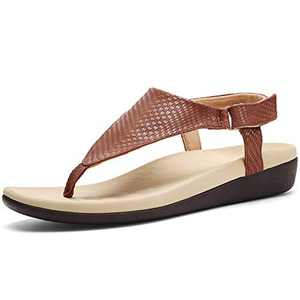 UTENAG Womens Arch Support Sandals Orthotic Adjustable Thong Flip Flops