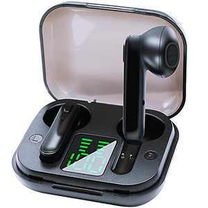 WXM True Wireless Bluetooth 5.0 Earbuds Hi-Fi Stereo Sound Deep Bass Earphones 30H Playtime Headphones IPX5 Waterproof Headset with Charging Case Built-in Microphone