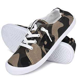 JENN ARDOR Women's Canvas Shoes Low Top Classic Slip-On Lightweight Comfort Fashion Sneakers for Walking Camo