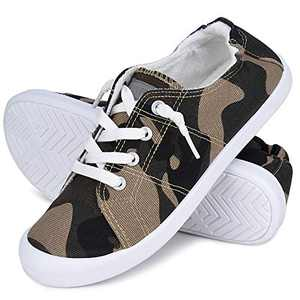 JENN ARDOR Women's Low Top Classic Slip-On Lightweight Comfort Fashion Sneakers Shoes for Walking Camo