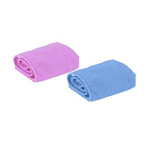 Microfiber Hair Towel Wrap Super Absorbent Twist Turban Fast Drying Hair Caps with Buttons Bath Loop Fasten Salon Dry Hair Hat (F, 2PCS)