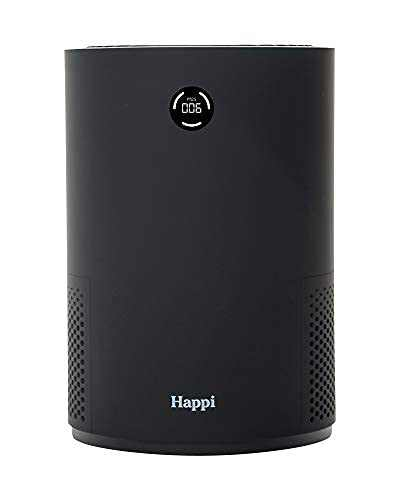 My Happi Compact Air Purifier H13 True HEPA filter , 5 in 1, UV + Active Carbon, For Desktop, Office, Bedroom Bedside, Whisper Quiet, 3 Speed, Air Quality Display Screen - Black
