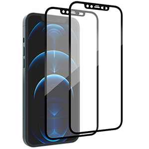 [2 Pack] PandaGlass Designed for iPhone 12 Pro/iPhone 12 Tempered Glass Screen Protector with Front Camera/Face ID Lock Bubble Free Full Coverage Screen Film for iPhone 12/iPhone 12 Pro 6.1 Inches
