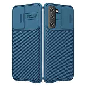 Nillkin for Samsung Galaxy S21 Case, CamShield Pro Case with Slide Camera Protect Cover, Slim Protective Case for Samsung S21 5G Phone case 6.2'' (Blue)