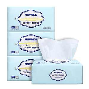 Facial Cotton Tissue Soft Baby Dry Wipe Extra Thick Disposable Face Towels Unscented Pure Cotton Tissues Dry and Wet Use for Sensitive Skin,Baby Washcloths,Makeup Wipes,Cleansing Cloths 320 Count
