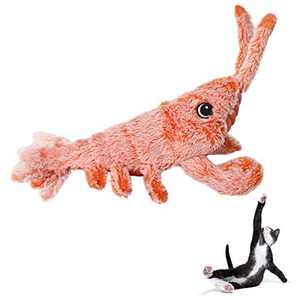 Beewarm Flippity Fish Cat Toy Flopping Fish Cat Toy Moving Fish Toy for Cats - Birthday Interactive Pets Chew Bite Supplies Catnip - Perfect for Biting, Chewing and Kicking (Lobster)