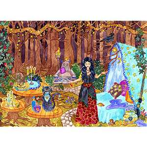 Jigsaw Puzzles 1000 Pieces for Adults Halloween Witch