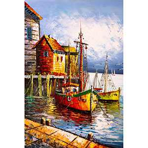 1000 Piece Jigsaw Puzzles for Adults Venice Seaside Boat