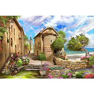 1000 Piece Jigsaw Puzzles for Adults Seaside Castle