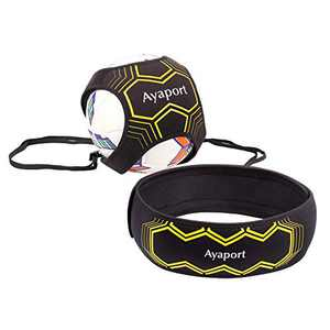 Ayaport Soccer Trainer Solo Kick Training Strap Gear Dribble Up Soccer Ball Practice Equipment Adjustable Belt for Boys, Kids, Adults
