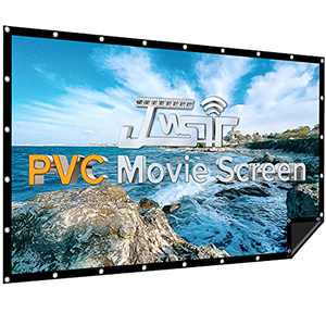Projector Screen 120 inch PVC, 1.3 Gain 176° Viewing Angle, Indoor/Outdoor Projector Screens, Support 3D 4K Ultra HD, Portable Front Video Projection Screen for Backyard, Movie Night, Home, Theater