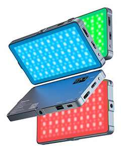 RGB Led Video Light, 4000mAh Rechargeable 360°Full Color Gamut 21 Light Effects,CRI>97 3200-5600K RGB LED Video Light Panel with Aluminum Alloy Body for Camera Photography Shooting YouTube Vlog