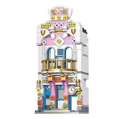LEBLOCK Building Blocks Toys Set for Toddlers, Kids Toys Set Construction Kits Set 301 PCS City Creator Store Shop, Educational Building Bricks for Age 6-12 Years Girls Boys (Flower Shop-301PCS)