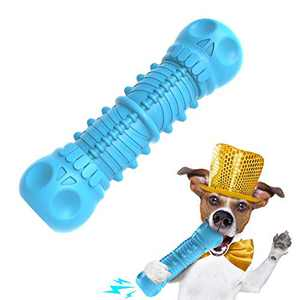 GleamyDot Dog Chew Toys, Dog Toys for Aggressive Chewers Indestructible Dog Squeaky Toys for Large/Medium Breed,Interactive Durable Puppy Teething chew Toys,Dog Toothbrush with Natural Rubber