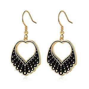 RBG Earrings Dissent Collar Earrings for Women, S925 Sterling Silver Dangle Drop Earrings RBG Earrings Jewelry Gifts for Women Fans Of Ruth Bader Ginsburg Gold