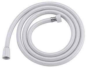 AMAZING FORCE PVC Shower Hose 59 Inches(5 feet) Extra Long Smooth Handheld Shower Hose Flexible Anti-Kink Handheld Shower Head Hose with brass spin inner core White (71 inches)