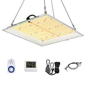 Otdair 1500W 400 LEDs Grow Light, 3x3ft Coverage Plant Light for Indoor Plants with Daisy Chain, Full Spectrum Plant Growing Light with Thermometer Hygrometer Timer, Dimmable Hydroponic Growing Lamps