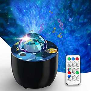 Star Projector, Galaxy Projector for Bedroom, Night Light Projector with Voice Control and Timer, Galaxy Light Projector for Kids Bedroom/Game Rooms/Home Theatre