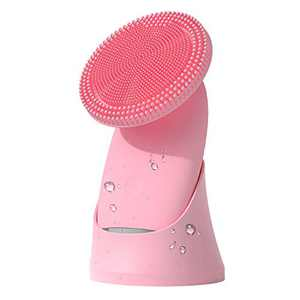 Facial Cleansing Brush - Silicone Sonic Rechargeable Exfoliating Face Scrubber, One-button 5 Speed Modes and Waterproof Cleaner, Soft Facial Cleaning Instrument Deep Cleaning for Different Skin Types