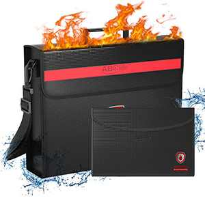 ABClife Large Fireproof Bag, XL Fireproof Document Bags with Small Fireproof Bag, Fireproof Safe and Water Resistant Bag for Money, Legal Documents, Files, Valuables (Large Fireproof bag2)