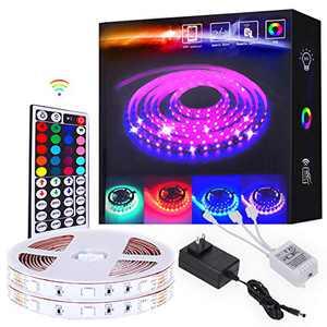 Geelium 32.8ft Led Light Strip for tv,5050 RGB LEDs Color Changing Light Strips for Bedroom,Led Lights for Room Decor …