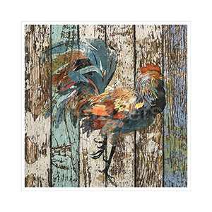 Canvas Print rooster Rustic Bathtub Vintage Farmhouse bathroom Wall Art Contemporary Decorative Picture Paintings Wall Decor for Bathroom Living Room NO Framed 14x14 Inches