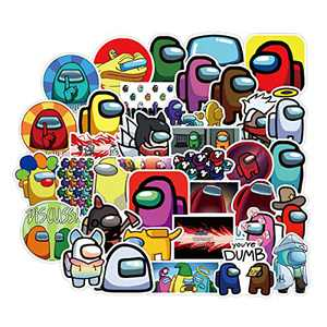 Stickers for Water Bottles :Among U s Laptop Sticker,Waterproof Decal Stickers Video Games Sticker Mix for Computer, Hydro Flasks, Water Bottles, Phone,Guitar, Cartoon, Door, Table,Shoe, 50 Pack