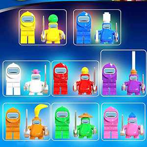 Among Us Toy, 16 Pieces/Set Building Blocks, Astronaut Crewmate Desk Toy, Mini Character Games Doll Statue Toy, Gifts for Game Fans Kid Adult