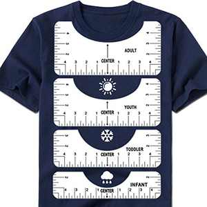 Vusnud Tshirt Ruler Guide, T Shirt Rulers to Center Designs, T-Shirt Ruler Guide for Tee Shirt Making, for Adult Youth Toddler Infant (4 Sizes)
