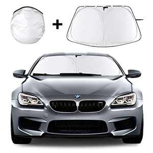 Car Windshield Sun Shade, Foldable Car Sun Shade with Storage Bag, 210T Reflective Polyester Material Can Block Up to 99% of Harmful UV Rays and Heat Accumulation, Universal Type Car Sun Shade