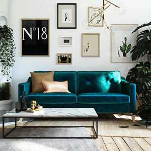 Mr. Kate Tess Sofa with Soft Pocket Coil Cushions, Small Space Living Room Furniture, Green Velvet