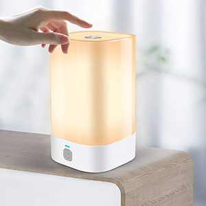Touch Sensor Bedside Lamps with Dimmable Warm White & RGB Color Changing, Rechargeable LED Night Light, Cordless Battery Table lamp for Reading, Baby Kids Room, Bedroom, Living Room, Office, Storage