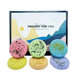 HUMOZM Aromatherapy Shower Steamers Gift Box Set of 6 Stress Relief Shower Bombs with Essential Oils, Shower Tablets Melts for Women Men, Home Spa Relaxing Gifts for Anniversary Moms/Girlfriend