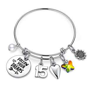 IEFWELL 15th Birthday Gifts for Teen Girls, 15 Years Old Birthday Gifts for Daughter Birthday Bracelets for TwinsGifts Birthday Present Happy 15th Birthday