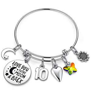 IEFWELL Birthday Gifts for 10 Years Old Girls, 10th Birthday Gifts for Daughter Birthday Bracelets Child GirlsBirthday Gifts Age 10 Happy 10th Birthday