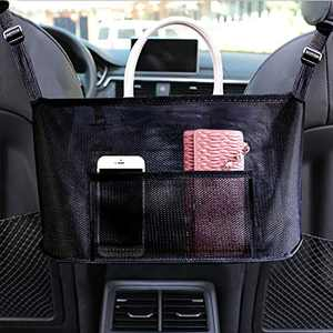 COMBINE Car Net Pocket Handbag Holder,Car Handbag Holder,Car Backseat Organizer, Seat Back Organizer Mesh, Driver Storage Netting Pouch, Cargo Tissue Holder Handbag Holder (Upgrade)