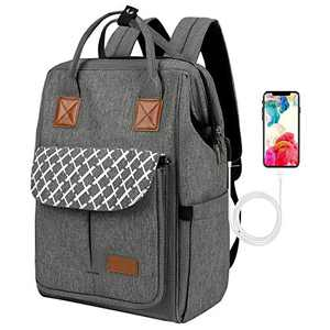 Business Travel Backpack Anti Theft School Laptop Backpack Waterproof Comfort Computer Bag with USB Charging Port Grey